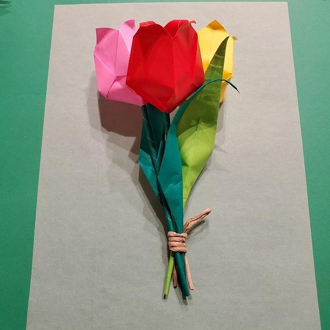 折り紙でチューリップをラッピングする方法★ (16)
