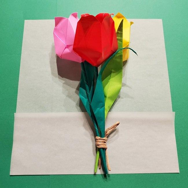 折り紙でチューリップをラッピングする方法★ (17)