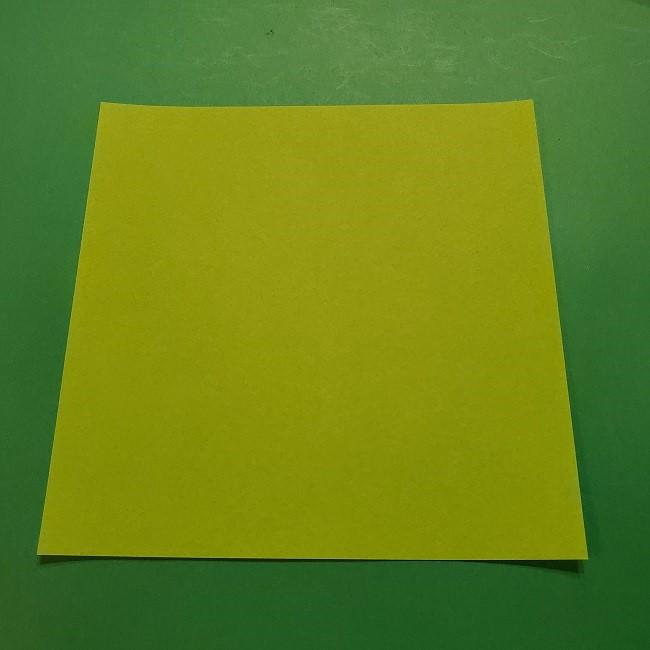 折り紙のチューリップ 立体の葉っぱ・茎*用意するもの (1)