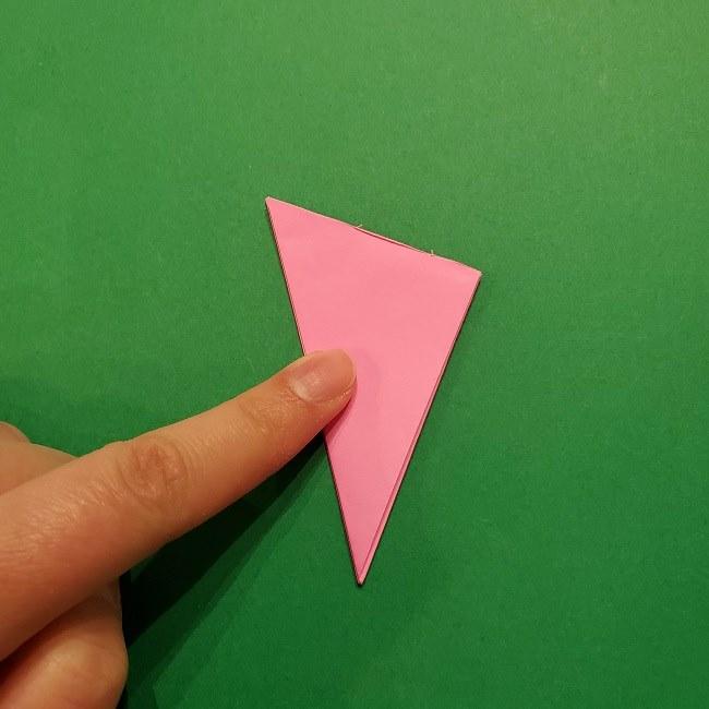 折り紙の桜(立体・1枚)の作り方折り方 (15)