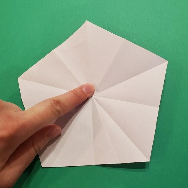 折り紙の桜(立体・1枚)の作り方折り方 (16)