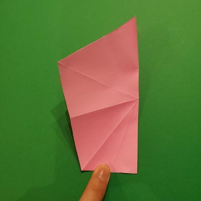 折り紙の桜(立体・1枚)の作り方折り方 (17)