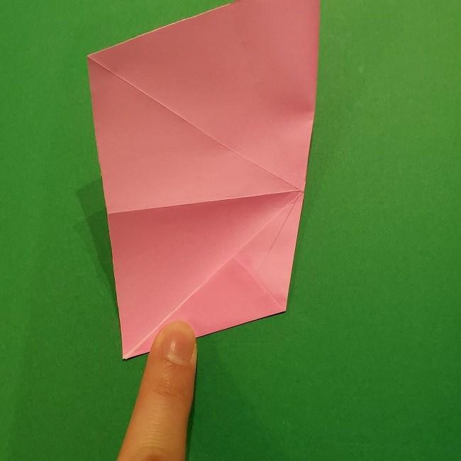 折り紙の桜(立体・1枚)の作り方折り方 (18)