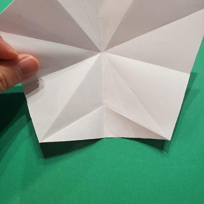 折り紙の桜(立体・1枚)の作り方折り方 (19)