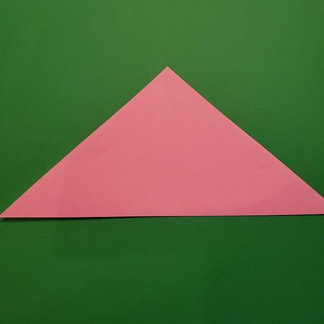 折り紙の桜(立体・1枚)の作り方折り方 (2)