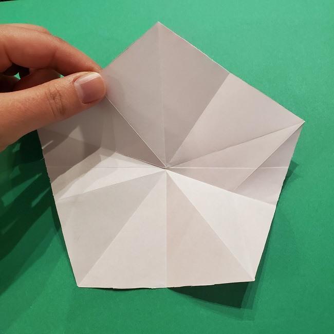 折り紙の桜(立体・1枚)の作り方折り方 (20)