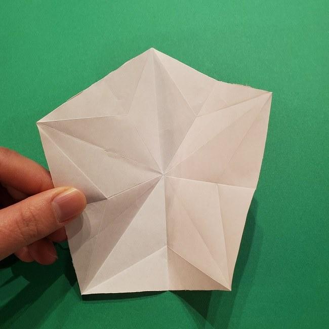 折り紙の桜(立体・1枚)の作り方折り方 (21)