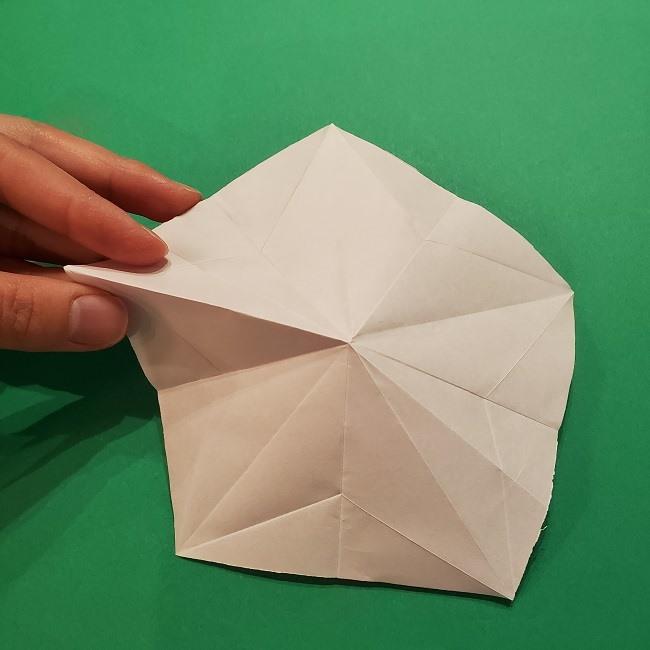 折り紙の桜(立体・1枚)の作り方折り方 (22)