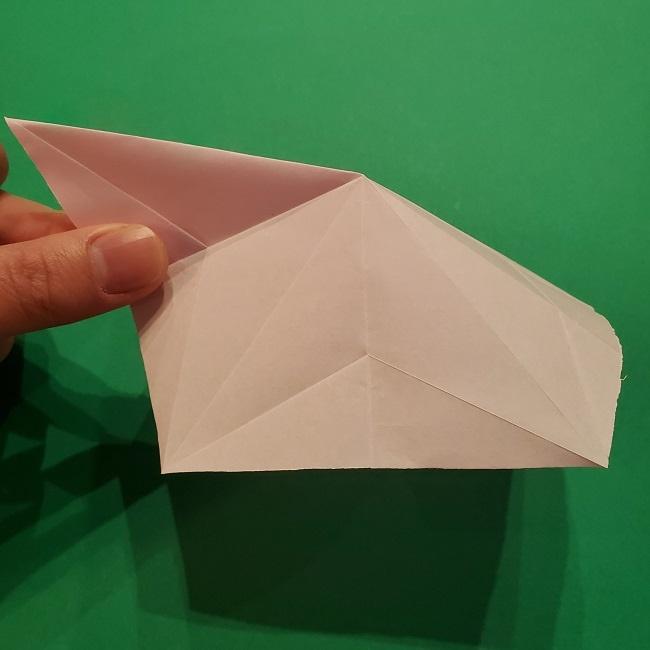 折り紙の桜(立体・1枚)の作り方折り方 (23)