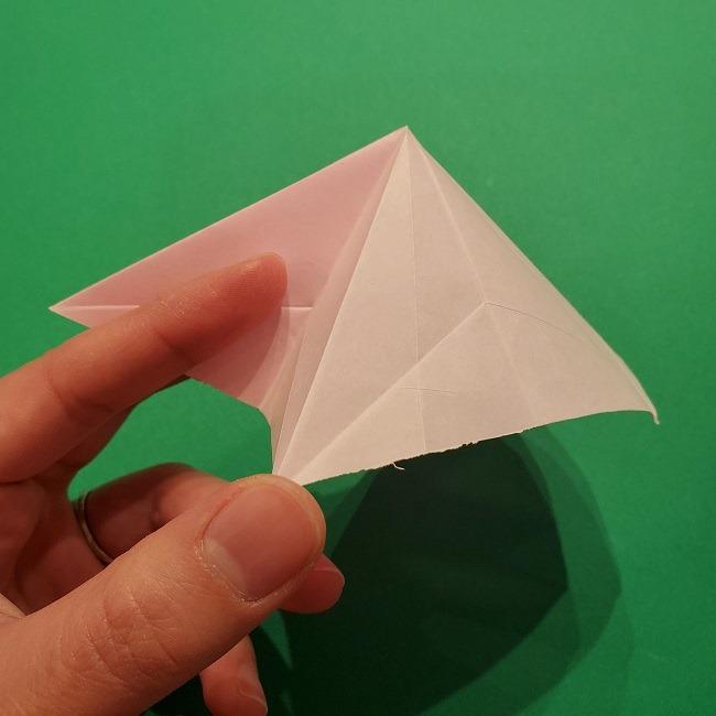 折り紙の桜(立体・1枚)の作り方折り方 (26)