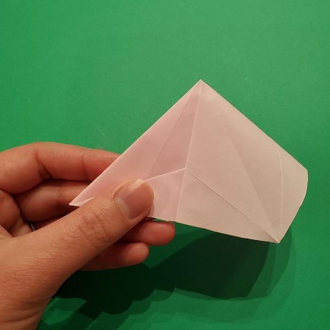 折り紙の桜(立体・1枚)の作り方折り方 (27)