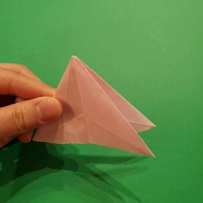 折り紙の桜(立体・1枚)の作り方折り方 (28)