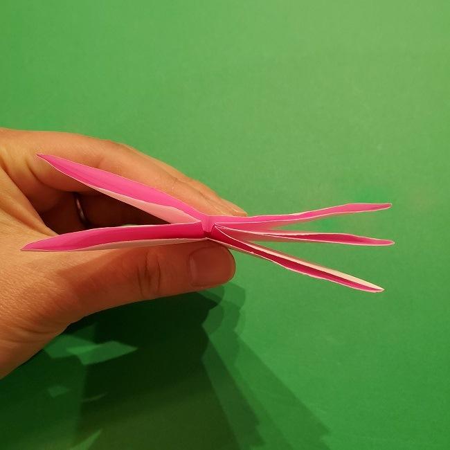 折り紙の桜(立体・1枚)の作り方折り方 (29)