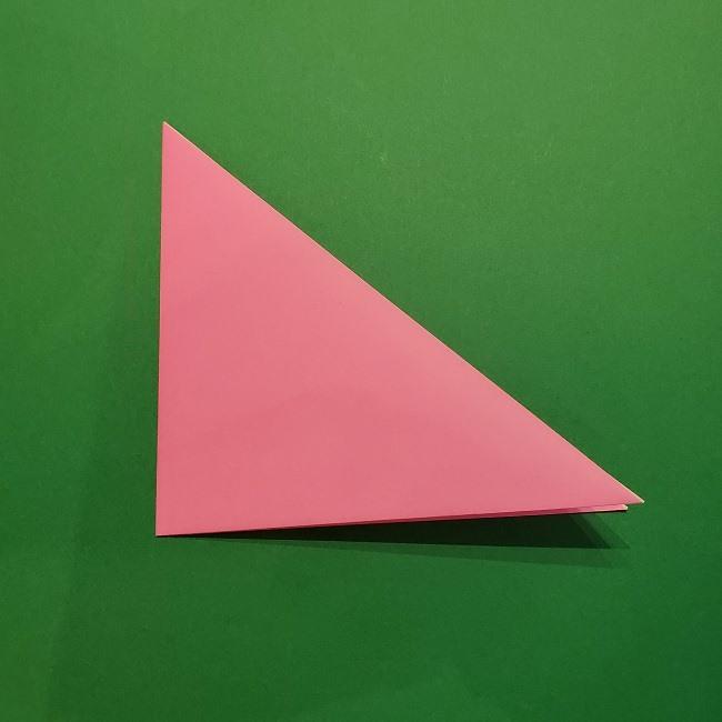 折り紙の桜(立体・1枚)の作り方折り方 (3)