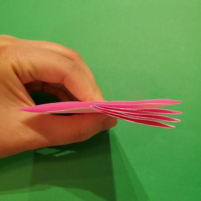 折り紙の桜(立体・1枚)の作り方折り方 (30)