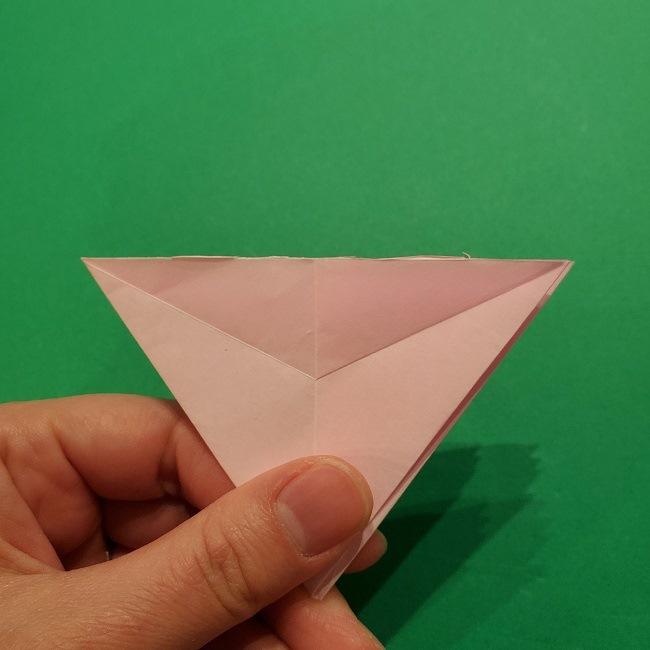 折り紙の桜(立体・1枚)の作り方折り方 (31)