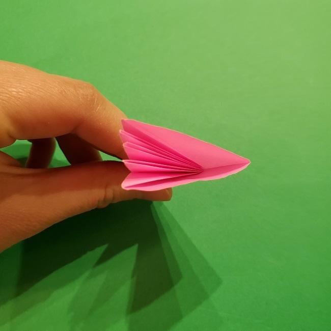 折り紙の桜(立体・1枚)の作り方折り方 (37)