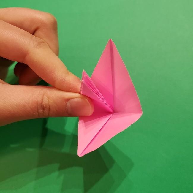 折り紙の桜(立体・1枚)の作り方折り方 (38)