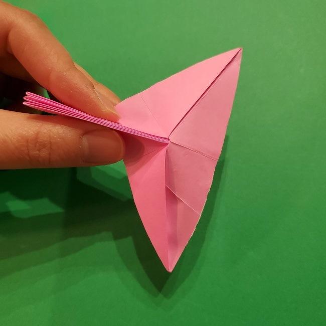 折り紙の桜(立体・1枚)の作り方折り方 (39)