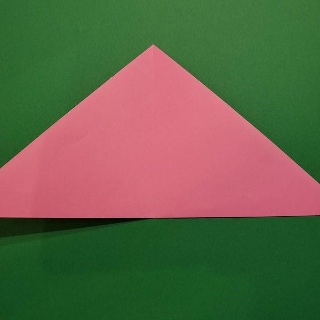 折り紙の桜(立体・1枚)の作り方折り方 (4)