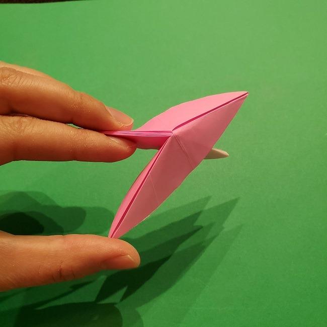 折り紙の桜(立体・1枚)の作り方折り方 (40)