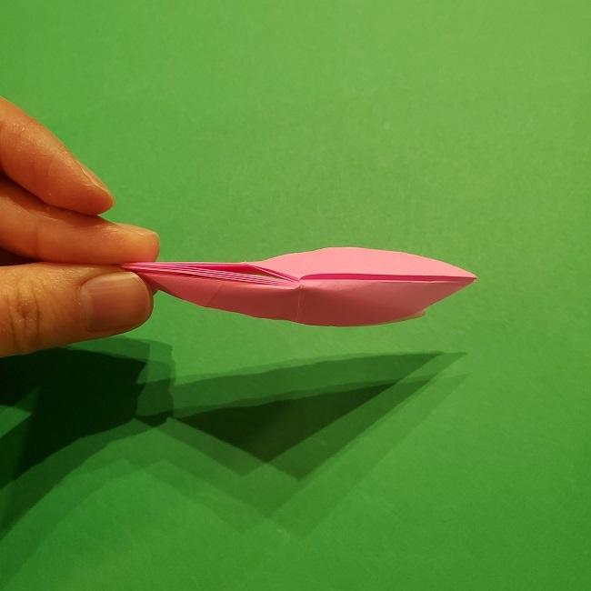 折り紙の桜(立体・1枚)の作り方折り方 (41)