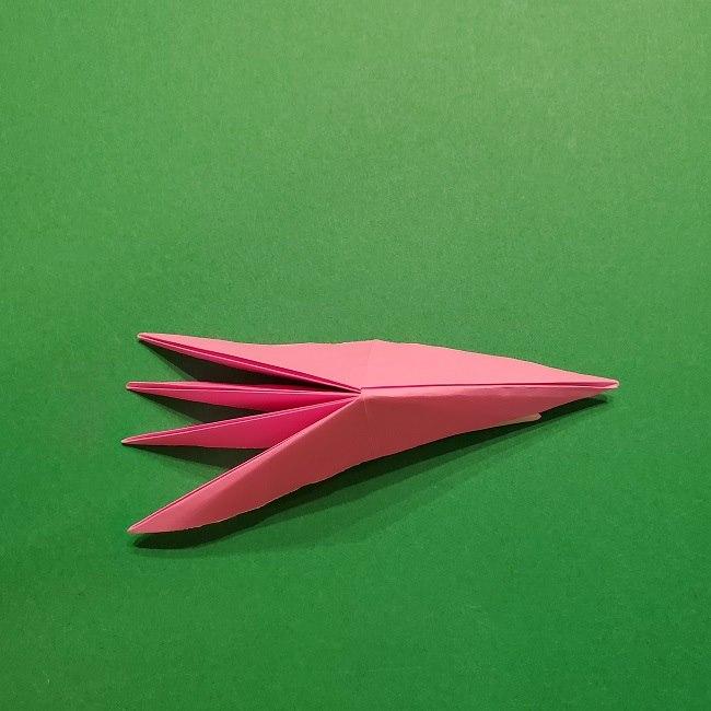 折り紙の桜(立体・1枚)の作り方折り方 (42)