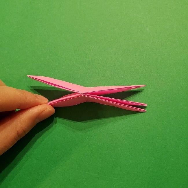 折り紙の桜(立体・1枚)の作り方折り方 (43)