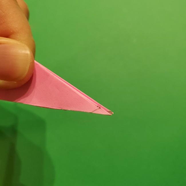 折り紙の桜(立体・1枚)の作り方折り方 (44)