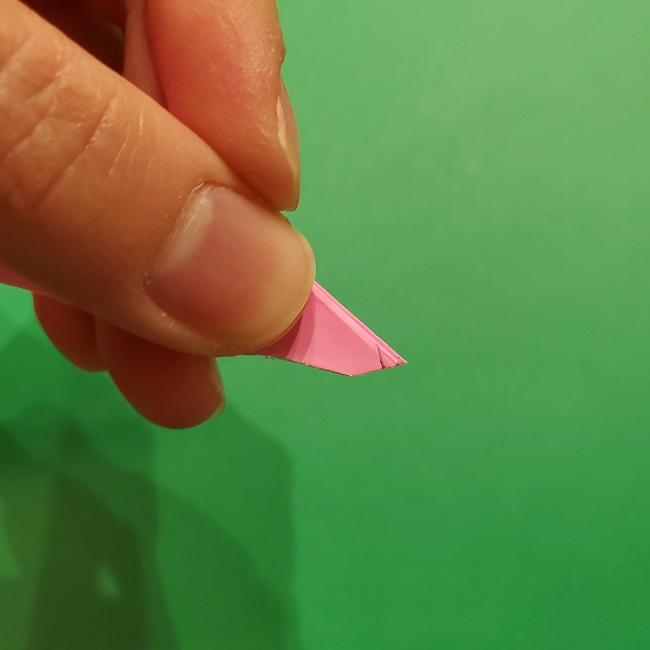 折り紙の桜(立体・1枚)の作り方折り方 (45)