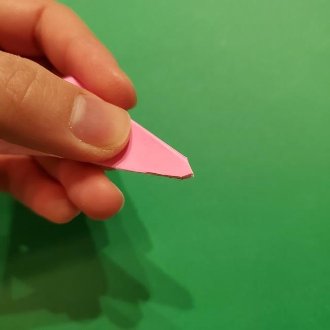 折り紙の桜(立体・1枚)の作り方折り方 (46)