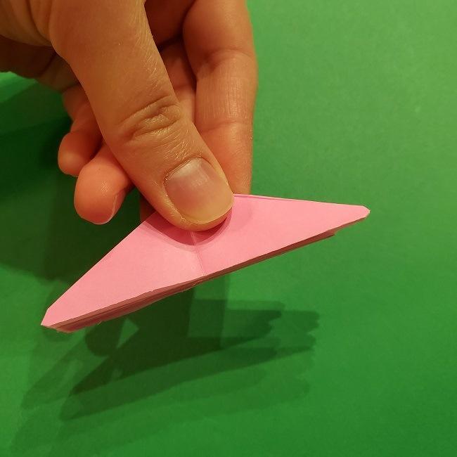折り紙の桜(立体・1枚)の作り方折り方 (47)
