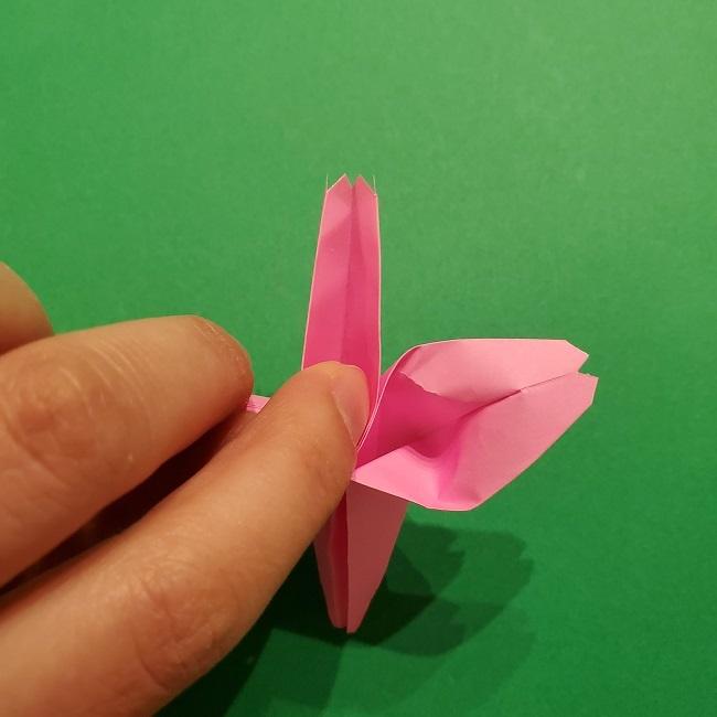 折り紙の桜(立体・1枚)の作り方折り方 (50)