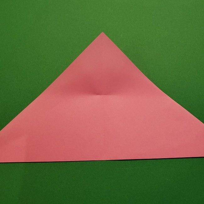 折り紙の桜(立体・1枚)の作り方折り方 (6)