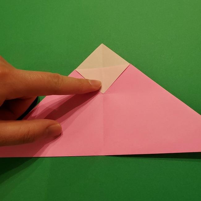 折り紙の桜(立体・1枚)の作り方折り方 (7)