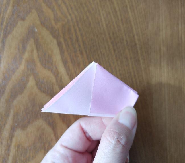 折り紙の桜 5枚でも簡単な折り方切り方 (10)