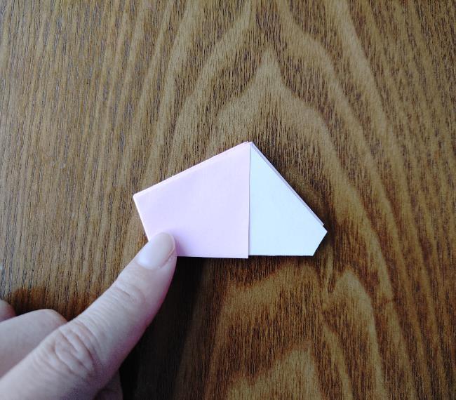 折り紙の桜 5枚でも簡単な折り方切り方 (13)