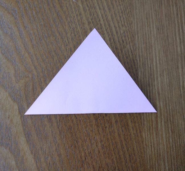 折り紙の桜 5枚でも簡単な折り方切り方 (2)
