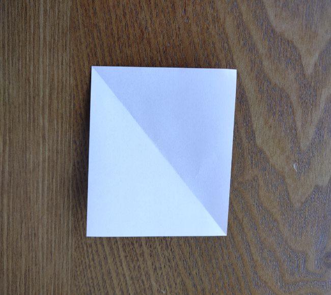 折り紙の桜 5枚でも簡単な折り方切り方 (3)