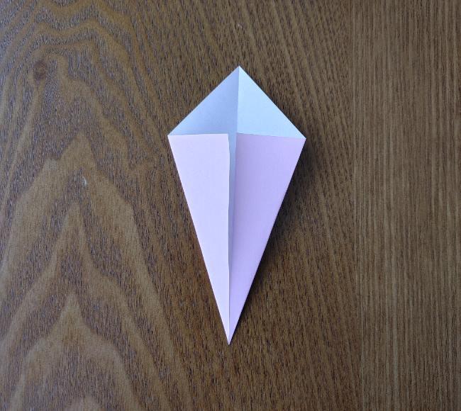 折り紙の桜 5枚でも簡単な折り方切り方 (4)