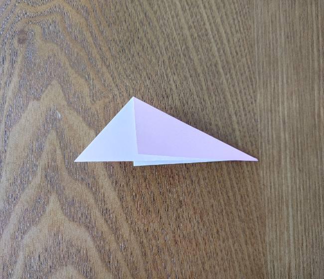 折り紙の桜 5枚でも簡単な折り方切り方 (5)