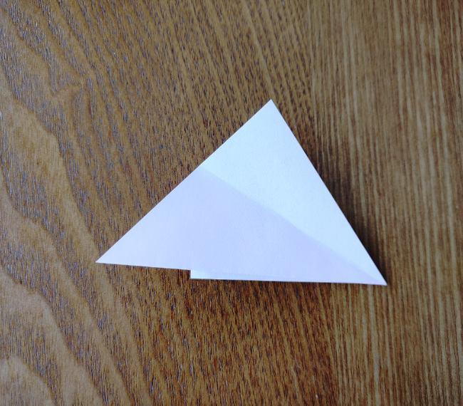 折り紙の桜 5枚でも簡単な折り方切り方 (6)