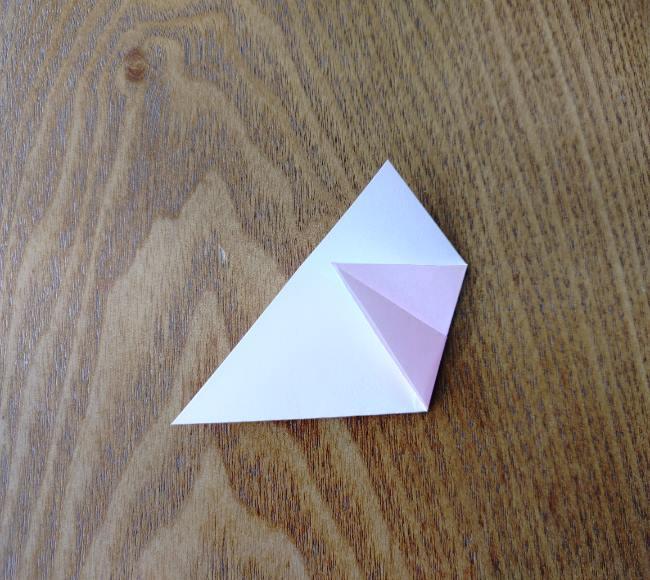 折り紙の桜 5枚でも簡単な折り方切り方 (7)