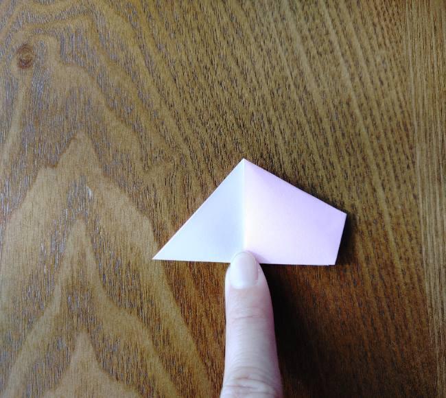 折り紙の桜 5枚でも簡単な折り方切り方 (8)