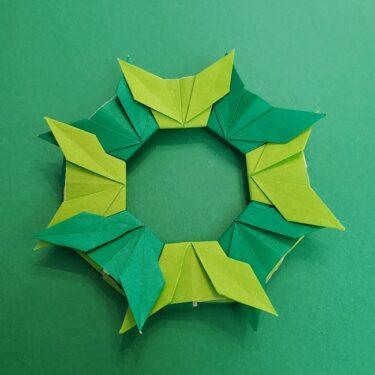 チューリップの折り紙リース*用意するもの (2)