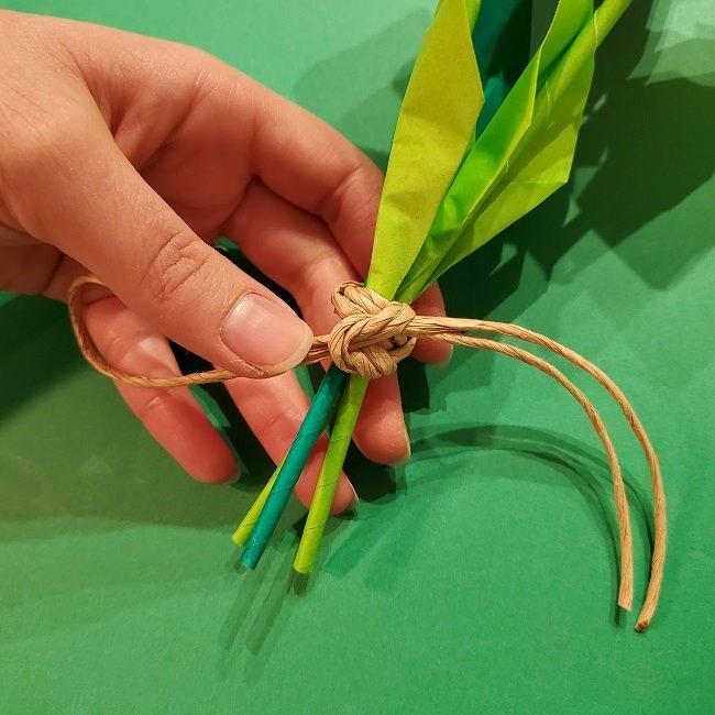 折り紙の花束(子供にも!)立体的なチューリップブーケの作り方 (12)