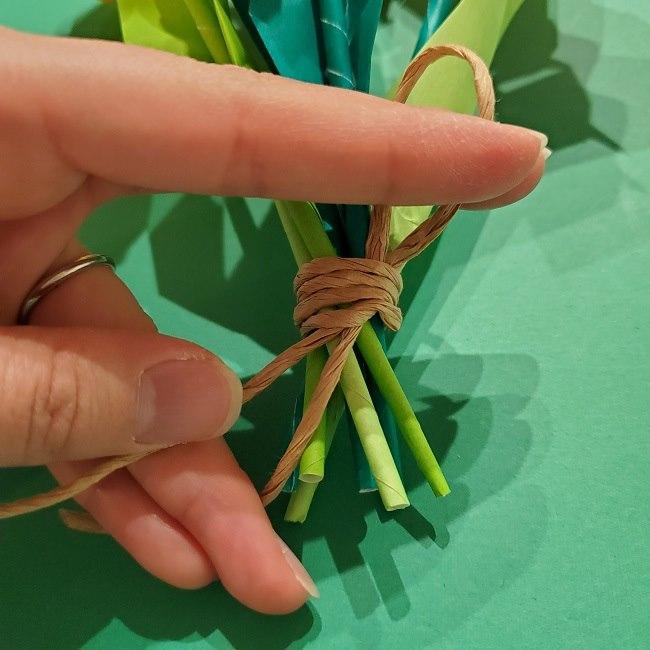 折り紙の花束(子供にも!)立体的なチューリップブーケの作り方 (18)