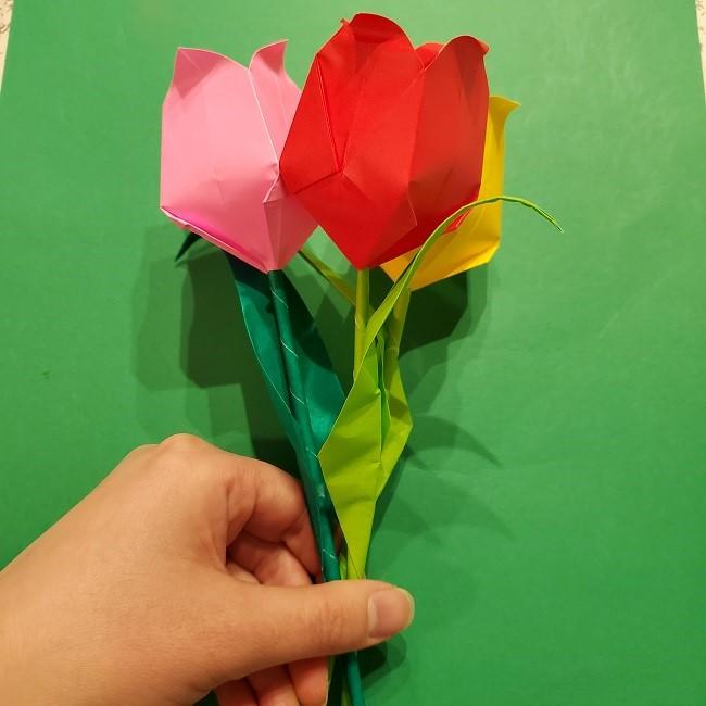 折り紙の花束(子供にも!)立体的なチューリップブーケの作り方 (2)
