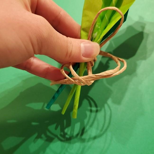 折り紙の花束(子供にも!)立体的なチューリップブーケの作り方 (8)