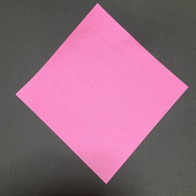 折り紙コースター(桜)の折り方は1枚で作れる♪用意するもの (1)